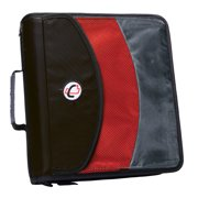 "Case It 3"", 2-in-1 Dual Ring Zipper Binder with Exterior Pocket, Red, DUAL-121-A"