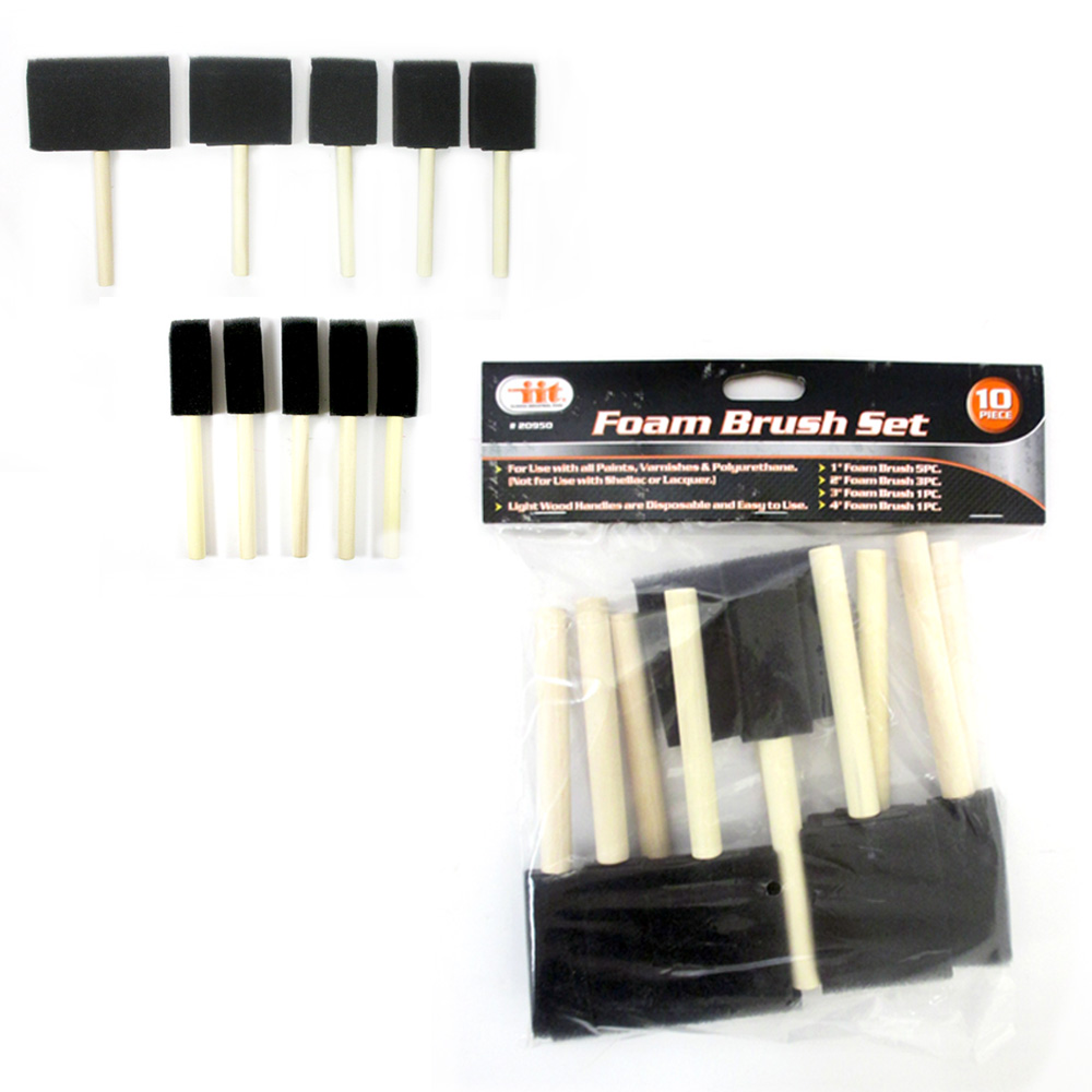 "New Lot 50 Paint Foam Brushes 4"" 3"" 2"" 1"" Brush Tool Silk Fabric Painting Crafts"