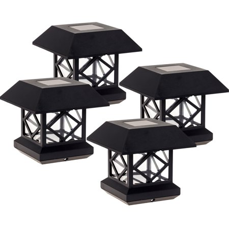 Summit Outdoor Three Light - GreenLighting Outdoor Garden Patio Summit Solar Powered Post Cap Light 4 Pack