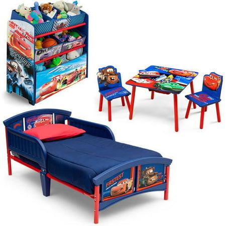 disney cars bedroom set with bonus toy organizer