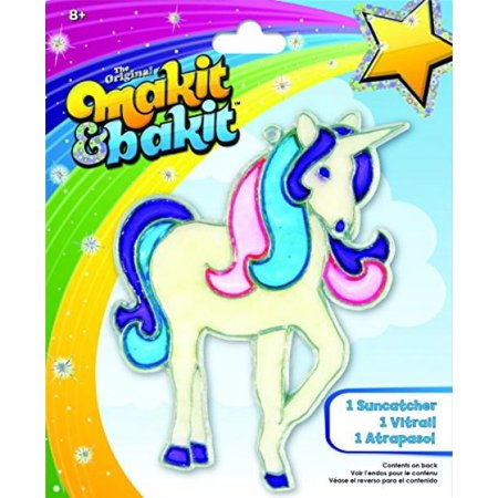 Unicorn Suncatcher - Makit & Bakit Glittering Suncatcher Kit - Unicorn
