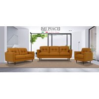 Acme Radwan Wooden Frame Sofa in Leather, Multiple Color