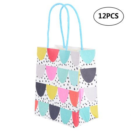 SONLIKE Kraft Paper Bags Paper Gift Bag Kraft Shopping Bags with Handles, Suitable for Wedding, Party and Shopping, Set of 12