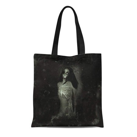 KDAGR Canvas Bag Resuable Tote Grocery Shopping Bags Anger Horror Spooky with Scary Ghost Woman Halloween Anxiety Apocalypse Corpse Tote Bag](Halloween Shopping)