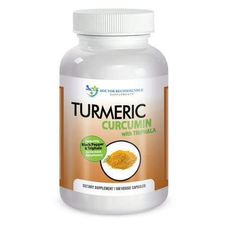 Doctor Recommended Organic Turmeric Curcumin with Black Pepper Extract, 750 mg Capsules, 180 Ct
