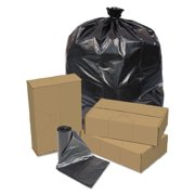 Pitt Plastics PITEC415412K Linear Low Density Repro Can Liners, 55gal, 1.2 Mil, 41 X 54, Black, 100/ct