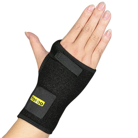 HERCHR Comfortable Wrist Splint with Thumb Abduction Brace Technology Wrist Spica Splint Support for Arthritis, Tendonitis, Carpal Tunnel Syndrome Pain Relief– Right Hand, Black