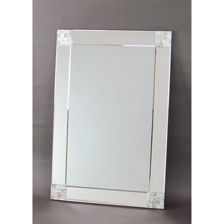 Wayborn Mother Of Pearl Beveled Rectangle Wall Mirror