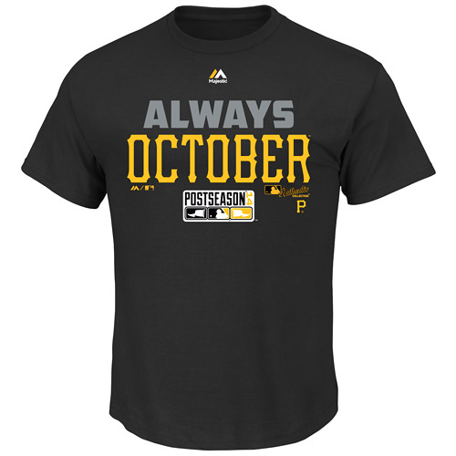 Pittsburgh Pirates Majestic Youth Always October T-Shirt - Black