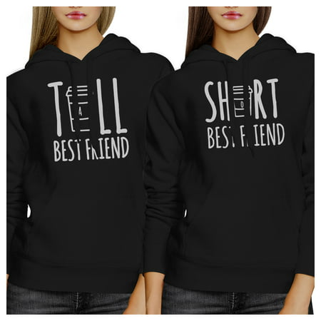 Tall Short Cup BFF Pullover Hoodies Matching Gift For Teen Girls