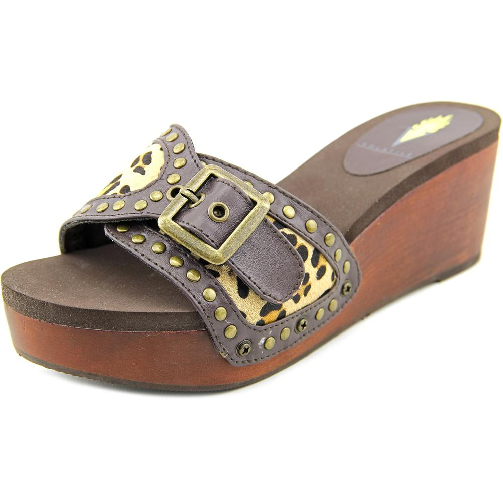 Volatile Millan Women US 9 Brown Platform Sandal