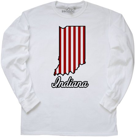 Inktastic Indiana Long Sleeve T-Shirt General In College University Bloomington