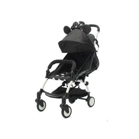 055245a82afe Lightweight Foldable Baby Stroller Shockproof Pushchair Infant Carriage For  Outdoor Travel w/ Milk Bottle Holder Carrying Torage Case Cloud Umbrella