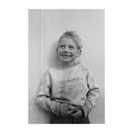 Migrant Child in Shafter Camp Print (Unframed Paper Poster Giclee 20x29)