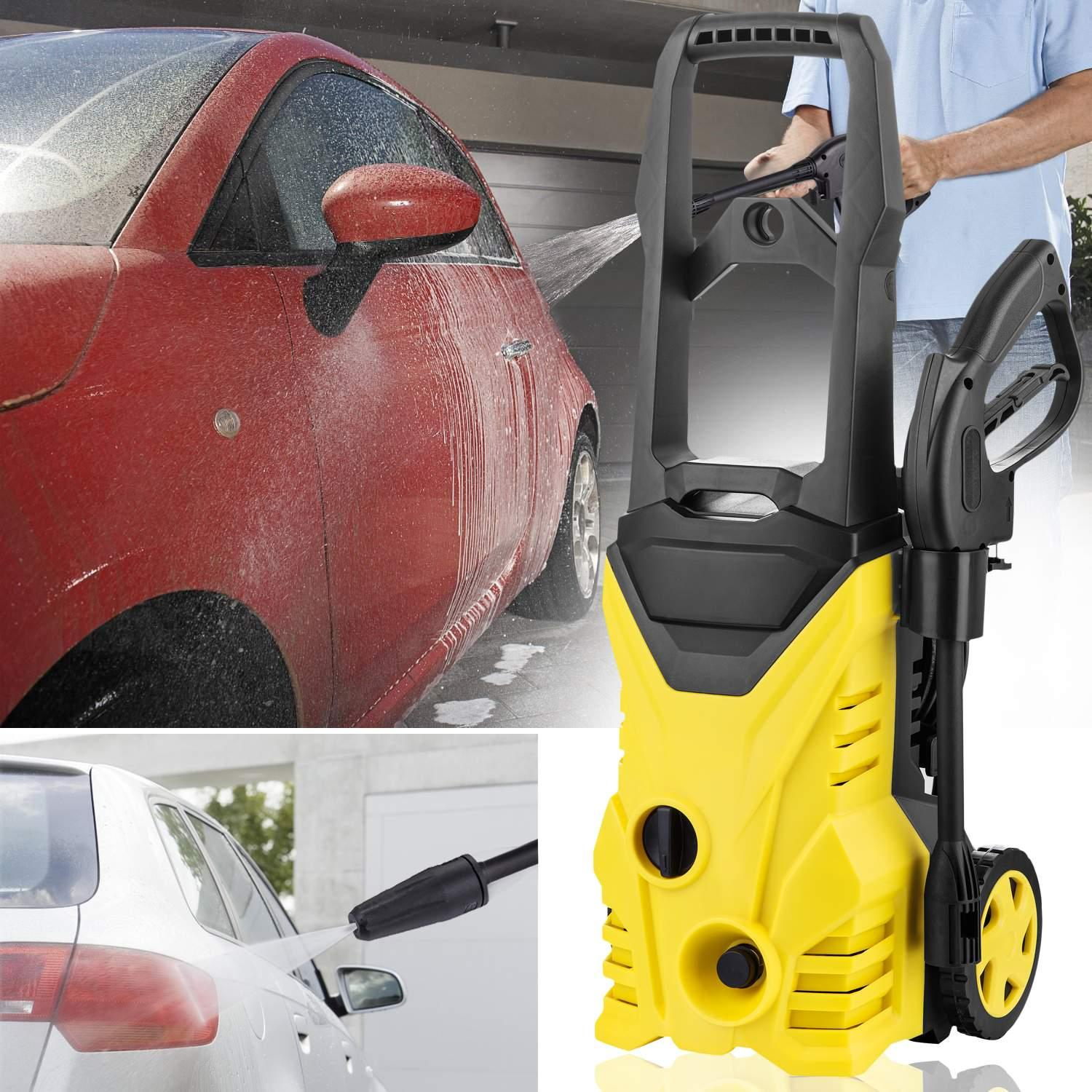 Big Clearance! 2000 PSI 1.4 GPM Electric Pressure Washer with Power Garden Home WSY