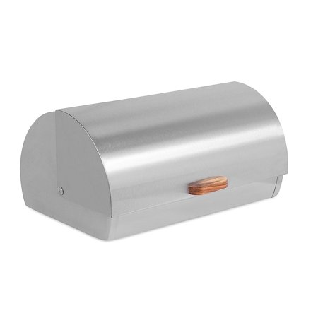 Internet's Best Stainless Steel Bread Box | Kitchen Food Storage Container | Metal Bread Holder | Roll Top