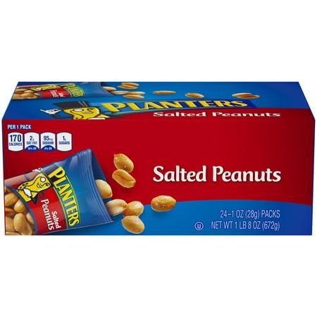Dark Horse Peanuts - Planters Salted Peanuts, 24 ct - 1 oz Bags