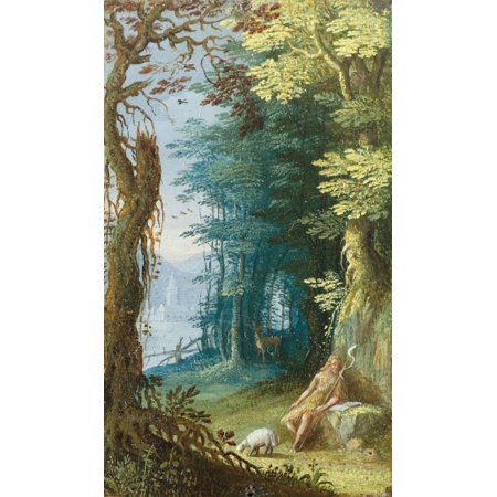 Woded Landscape With St John The Baptist Canvas Art - (18 x...