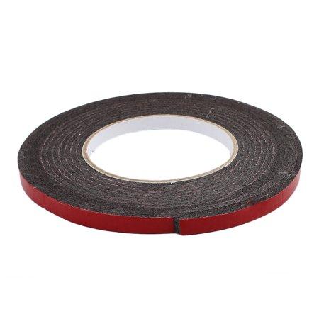 2 Pcs 5M 8mm x 3mm Dual-side Adhesive Shockproof Sponge Foam Tape Red Black - image 1 of 4