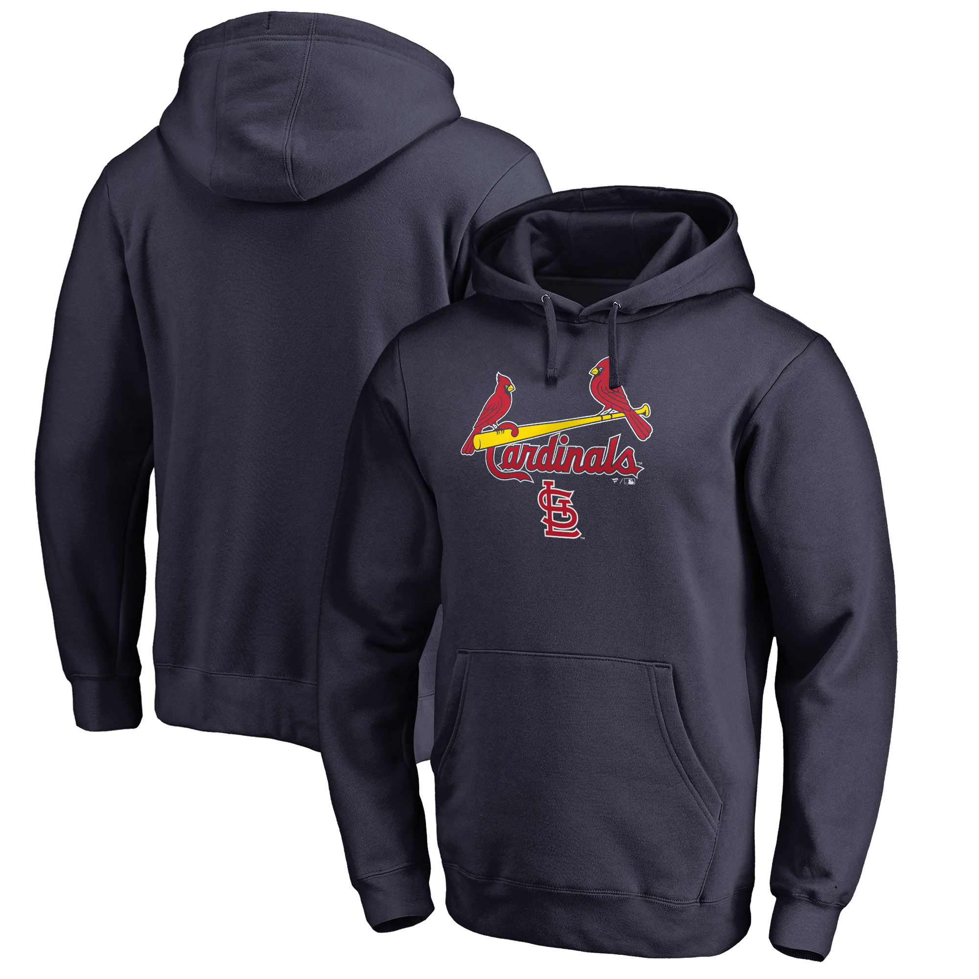St. Louis Cardinals Fanatics Branded Big & Tall Team Lockup Pullover Hoodie - Navy