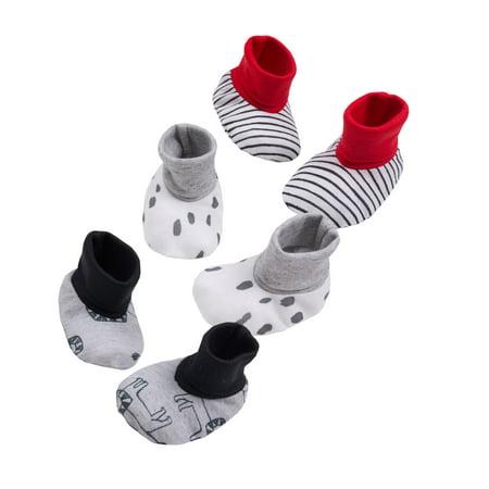 Little Star Organic Newborn Booties, 3-Pack (Baby Boys) (Red Hat Socks)