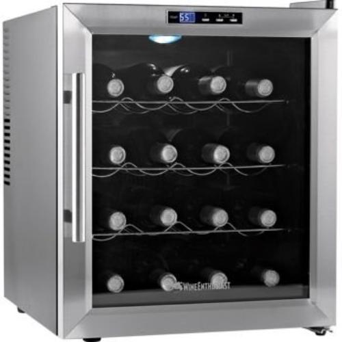 The Wine Enthusiast 2720217 Silent 16 Bottle Wine Cooler Appl Thermoelectric Energy-efficient