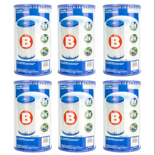 Intex Pool Easy Set Filter Cartridge - Type B (6 Pack) | 29005E (59905E)
