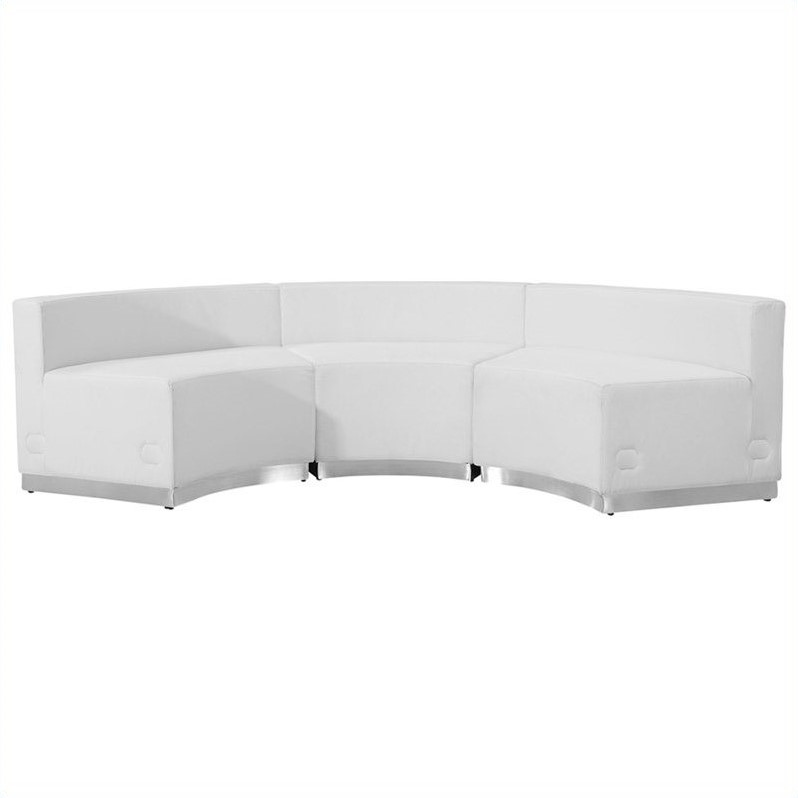 Flash Furniture Hercules Alon 3 Piece Reception Seating in White - image 3 de 4