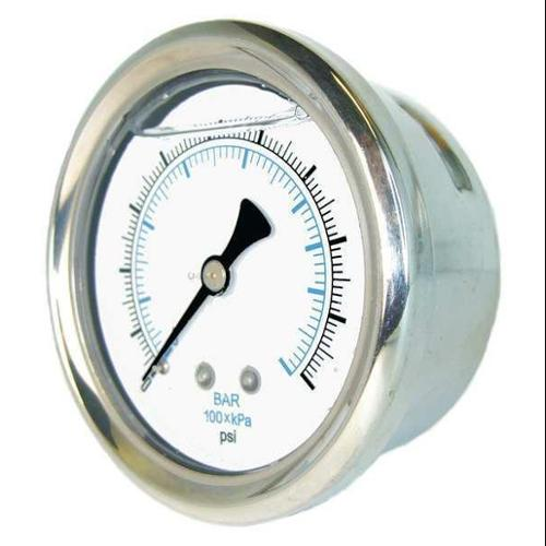PIC GAUGES 202L-404CC Compound Gauge, 1/4 in. NPT, 4 in.