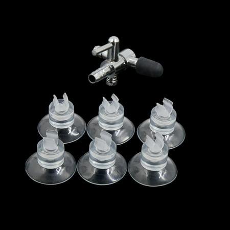 Metal Air Control Valve Sucker Clip Aquarium Fish Tank Accessories Kit 7 in 1 - image 3 of 4