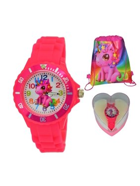 Unicorn Watch Christmas Birthday Party Gift Set For Girls Kids.