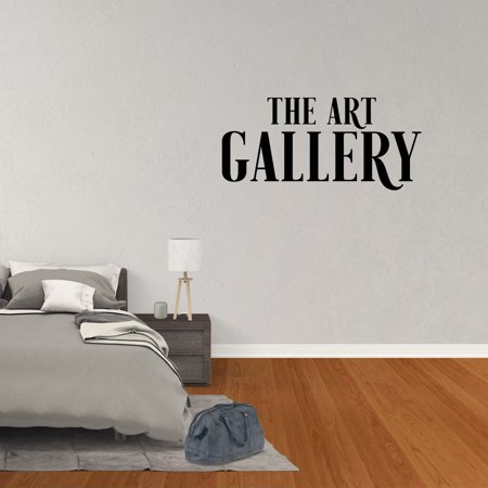 wall decal quote the art gallery children display kids artwork