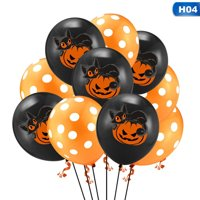 KABOER 10 Pcs/Lot 12 Inch Balloons For Halloween Decoration Party Supplies Halloween Horror Haunted Childrenand#39;S Party Printed Latex Balloons
