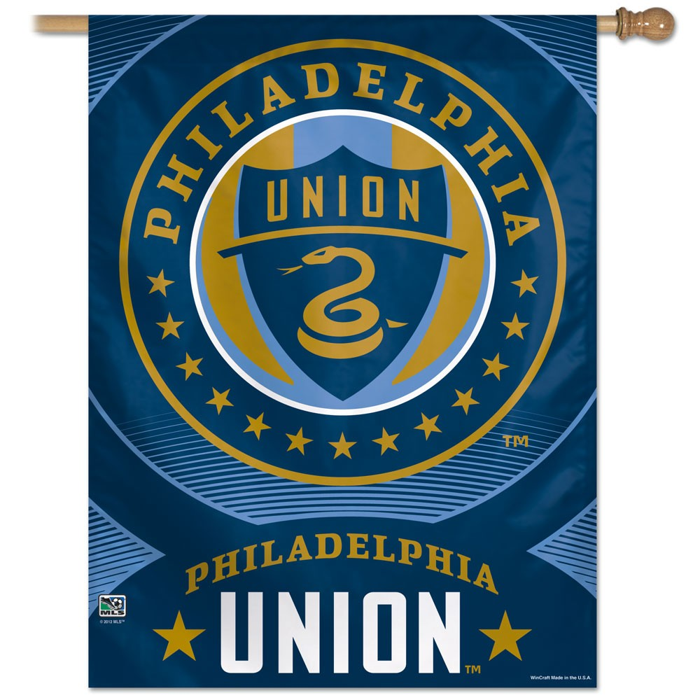 Philadelphia Union Official MLS 27 inch x 37 inch  Banner Flag by Wincraft WN-HouseP-PU