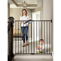 Regalo Extra Tall Stairway and Hallway Walk Through Baby Gate, Black