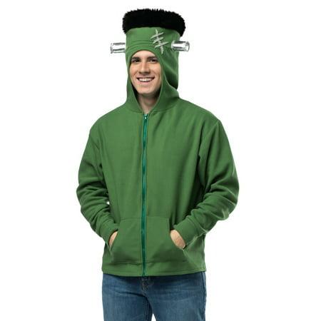 Rasta Imposta Funny Adult Frankenstein Hood Zip Up Halloween Costume Hoodie S/M - Zip Lips Halloween