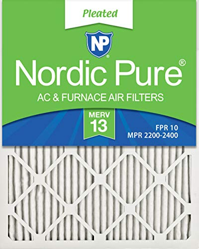 Nordic Pure 16x32x1 MERV 13 Pleated AC Furnace Air Filters 6 Pack