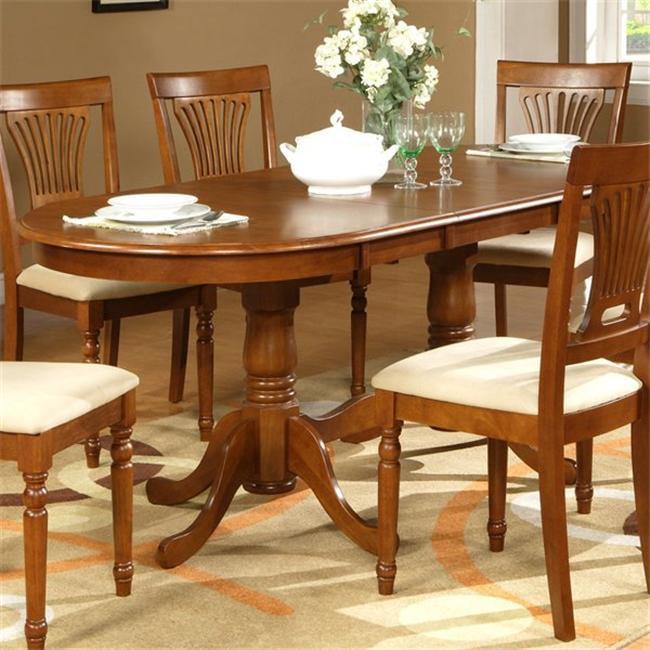 Wooden Imports PLV09-P-SABR Plainville Table Pedestal - Sadle Brown