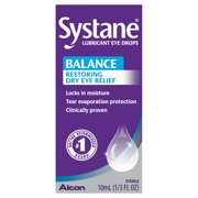 Systane Balance Lubricating Eye Drops for Dry Eyes Symptoms, 10ml
