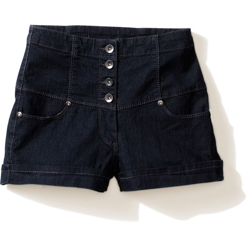 Miley Cyrus & Max Azria - Juniors' High-Waisted Denim Shorts