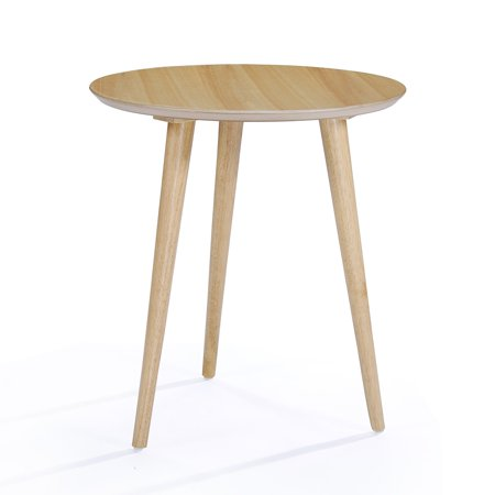 Ava End Table with Faux Wood Overlay