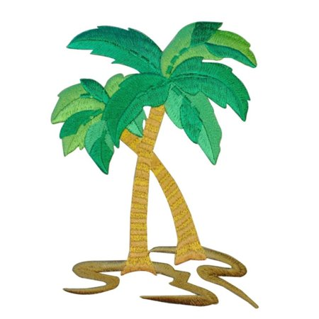 ID 1734 Large Palm Trees Patch Tropical Beach Theme Decoration Iron On Applique
