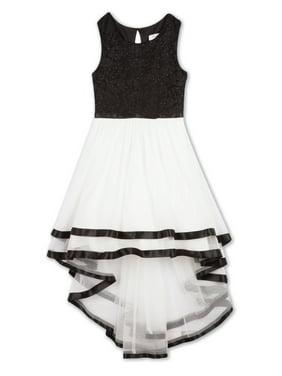 d6bb5fa1501 Product Image Lace Bodice Hi-Lo Long Occasion Dress (Big Girls)