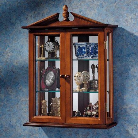 design toscano amesbury manor wall mounted curio cabinet. Black Bedroom Furniture Sets. Home Design Ideas
