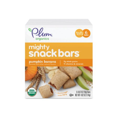 Plum Organics Mighty Snack Bars Pumpkin Banana, 4.02oz (Pack of 6) (Snack Bar Ideas)