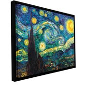 ArtWall Starry Night by Vincent Van Gogh Framed Print of Painting