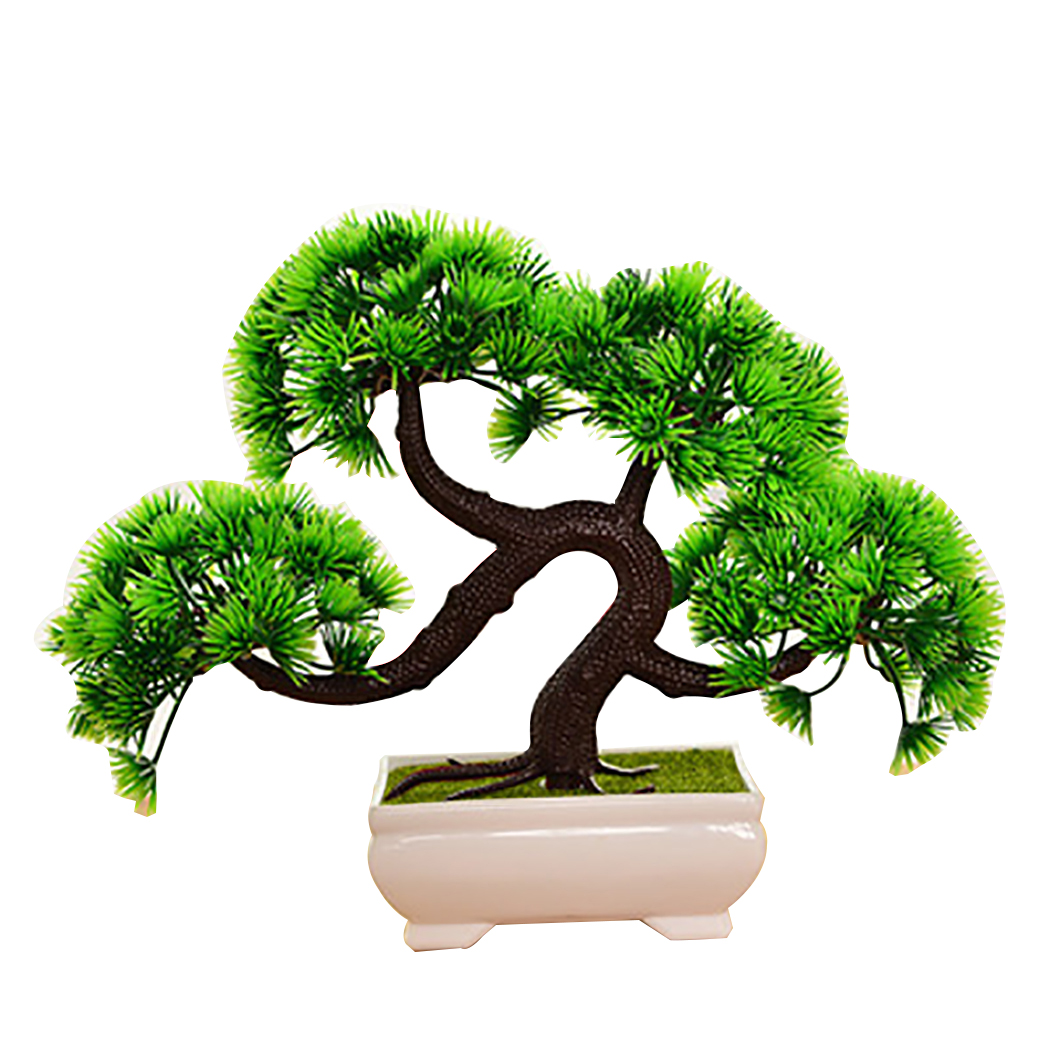 Bon Outgeek Green Artificial Plants Trees Creative Bonsai Fake Plants In Pots  Plastic Planter Home Office Desk