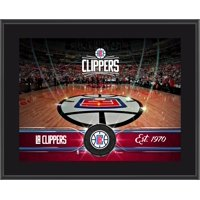"LA Clippers 10.5"" x 13"" Sublimated Team Stadium Plaque"