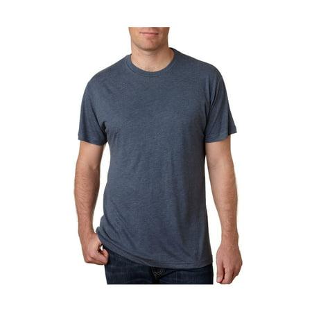 Next Level Men's Rib Collar Tri Blend Satin Label T-Shirt, Style NL6010 Fashion Tri Blend T-shirt
