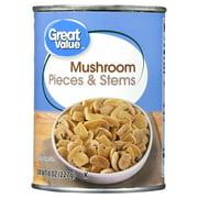 Great Value Mushroom Pieces & Stems, 8 Oz